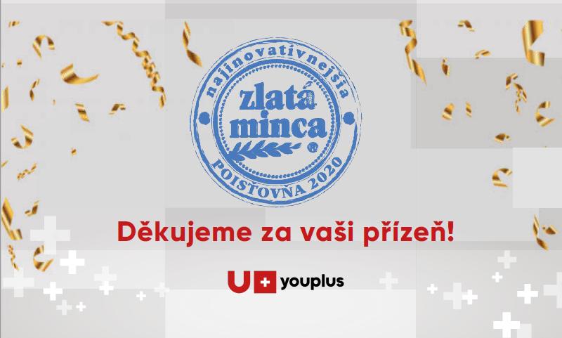"""Pojišťovna YOUPLUS bodovala v soutěži """"Zlatá mince 2020"""""""